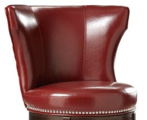 Bonded Leather Swivel Stool Transitional Bar Stools And Counter with regard to Red Leather Swivel Bar Stools