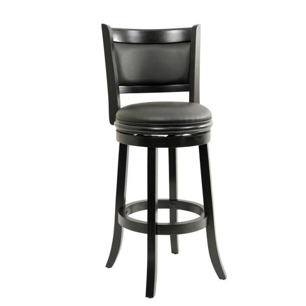 Boraam 29 In Augusta Swivel Bar Stool In Black 45829 The Home Depot intended for Augusta Swivel Bar Stool