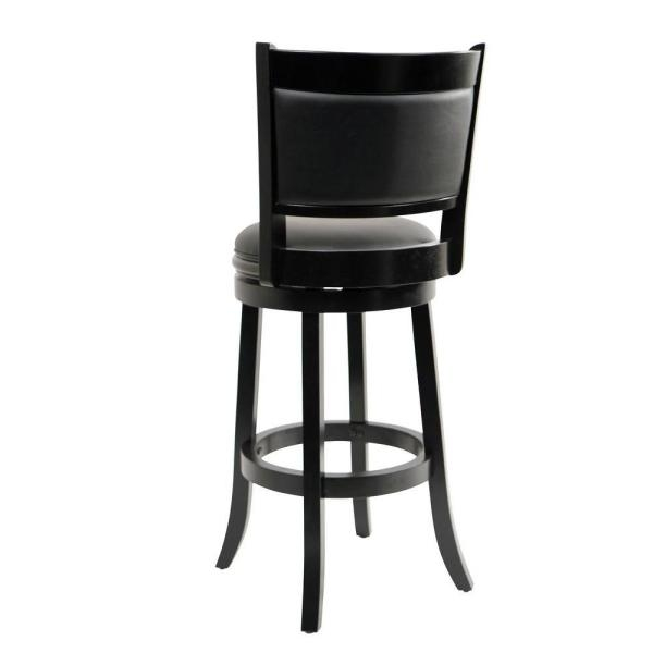 Boraam 29 In Augusta Swivel Bar Stool In Black 45829 The Home Depot with augusta swivel bar stool intended for Existing Home