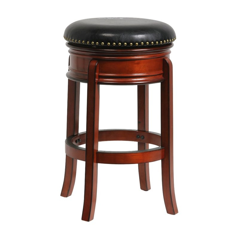 Boraam Hamilton Leather Swivel Backless Bar Stool At Hayneedle regarding Swivel Backless Bar Stools