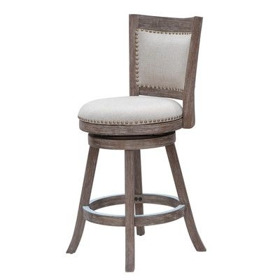 Boraam Melrose 24quot Swivel Bar Stool With Cushion Grey Linen Lots regarding boraam bar stools intended for Your own home