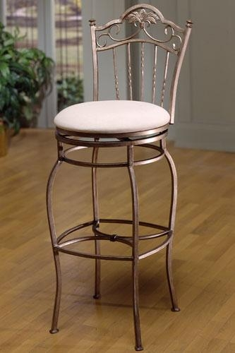 Bordeaux Wrought Iron Swivel Bar Stool Ideas with Wrought Iron Bar Stools