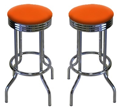 Bright Neon Orange Bar Stools Set Of 2 In The Thefurniturecove throughout Orange Bar Stools