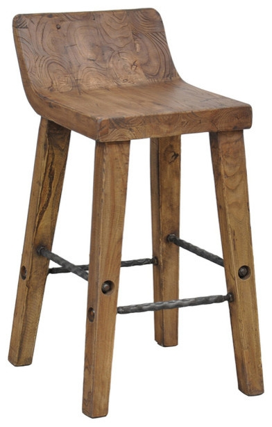 Brilliant Low Back Bar Stool Wicker Counter Stool With Low Back in low back bar stools pertaining to Household