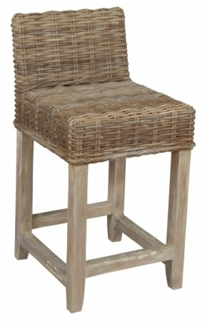 Brilliant Low Back Bar Stool Wicker Counter Stool With Low Back inside Wicker Bar Stools With Backs