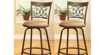 Bronze Finish Scroll Back Adjustable Metal Swivel Counter Height within The Brilliant as well as Interesting bar height bar stools swivel intended for Your property