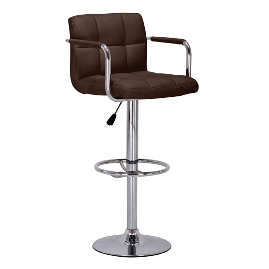 Brown Kitchen Breakfast Bar Stools Kitchen Counter Chrome with regard to Brown Bar Stools