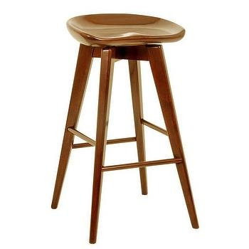 Brown Wooden Swivel Bar Stool for swivel wood bar stools with regard to Current Household