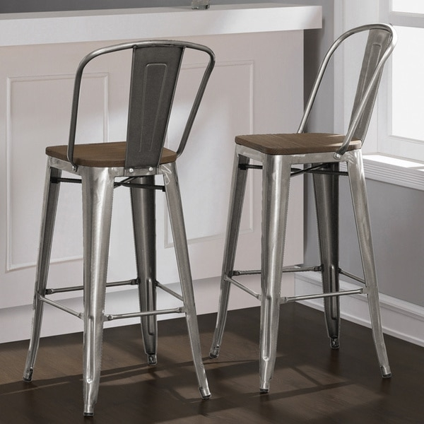 Brushed Metal Bar Stools S Round Stainless Steel Bar Stools Chair with Stylish and Gorgeous tabouret bar stools pertaining to Your house