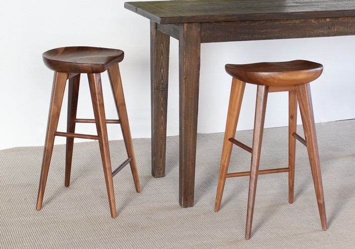 Bs49la Walnut Bar Stool With Tapered Legs 6 within The Elegant as well as Interesting walnut bar stools for Household