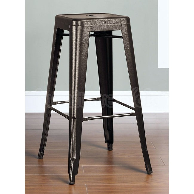 Burnished Bronze 30 Inch Metal Bar Stool Set Of 2 Coaster throughout bronze bar stools pertaining to Motivate