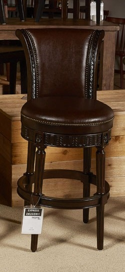 Buy Ashley Furniture North Shore Dark Brown Upholstered Tall intended for ashley furniture bar stools regarding Desire