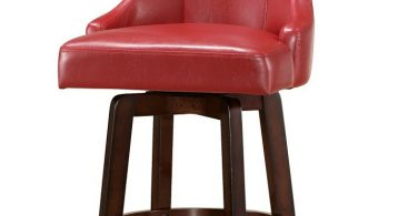 Buy Brooks Swivel Bar Stool In Red Color Steve Silver From Www regarding Red Swivel Bar Stools