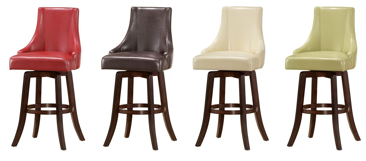 Buy Brooks Swivel Bar Stool In Red Color Steve Silver From Www with regard to red leather swivel bar stools intended for Cozy