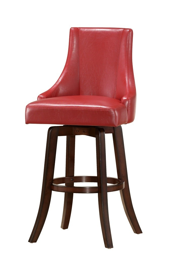 Buy Brooks Swivel Bar Stool In Red Color Steve Silver From Www with regard to Red Leather Swivel Bar Stools