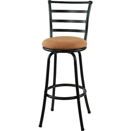 Buy Mainstays Metal Swivel Bar Stool 2939 Black In Cheap Price On throughout Black Metal Bar Stools Swivel