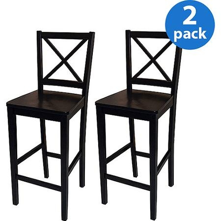 Buy Virginia Cross Back Stool 30ampquot Set Of 2 Espresso In pertaining to Cheap Bar Stools Set Of 2