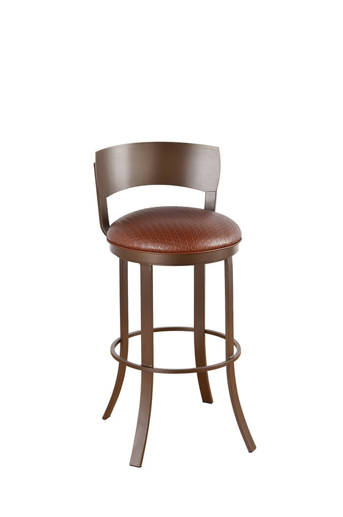 Callee Bailey Metal Back Swivel Stool 24 26 30 34quot inside 30 bar stools with back pertaining to Dream