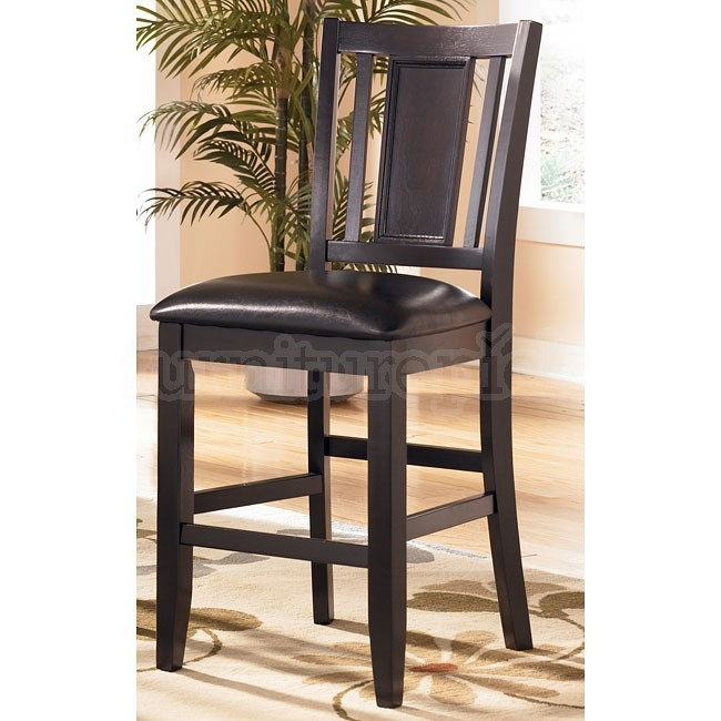 Carlyle 24 Inch Wood Bar Stool Set Of 2 Signature Design pertaining to 24in Bar Stools