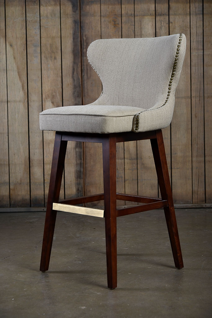 Carney Swivel Bar Stool Mecox Gardens pertaining to The Amazing  tufted bar stools regarding Found Property