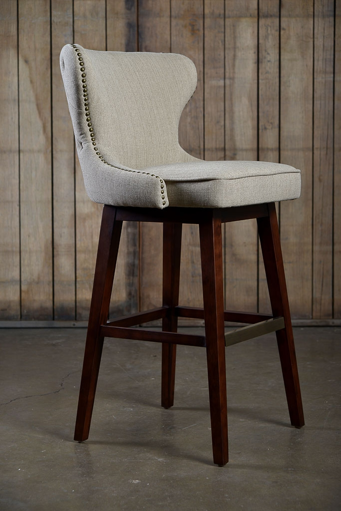 Carney Swivel Bar Stool Mecox Gardens with regard to The Most Stylish along with Stunning upholstered swivel bar stools pertaining to House