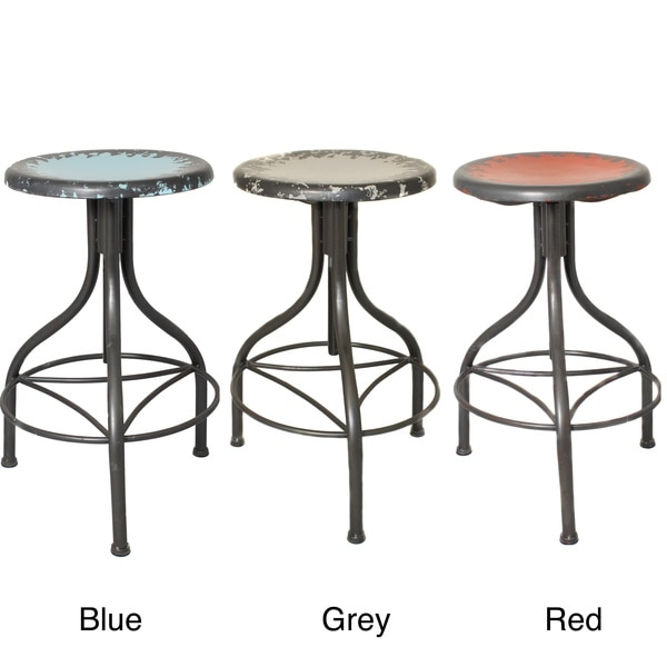 Casa Cortes Vintage Adjustable Metal Bar Stool 15709784 pertaining to Vintage Metal Bar Stools
