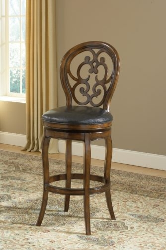 Castlecreeka Swivel Barstool Walnut 233093 Kitchen Dining At 24 in 24 Swivel Bar Stools