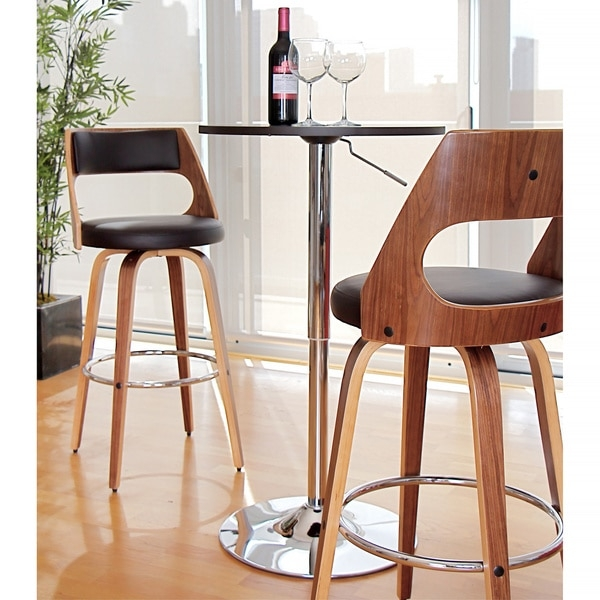 Cecina Mid Century Modern Wood Barstool 16554326 Overstock in Lumisource Bar Stools