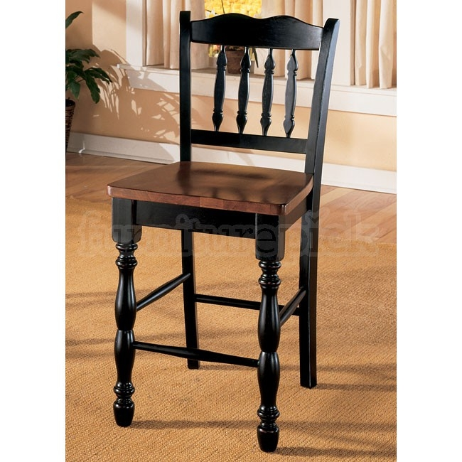 Cedar Heights 24 Inch Bar Stool Set Of 2 Signature Design regarding 24in Bar Stools