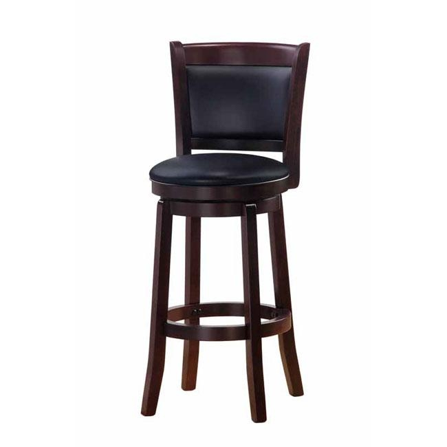 Chandler Espresso Finish 30 Inch Swivel Barstool 13266522 regarding Espresso Bar Stools