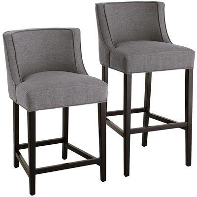 Charlie Grey Bar Stools pertaining to grey bar stools for  Residence