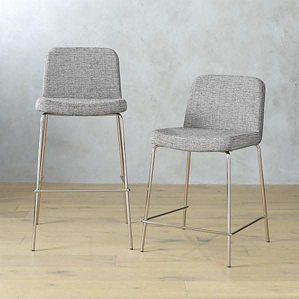 Charlie Grey Bar Stools with regard to grey bar stools for  Residence