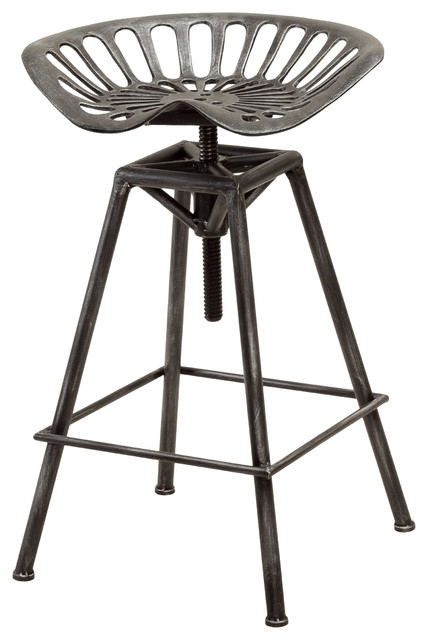 Charlie Metal Tractor Bar Stool Industrial Bar Stools And throughout Industrial Metal Bar Stools