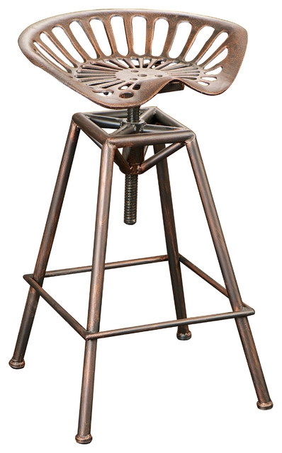 Charlie Tractor Seat Bar Stool Industrial Bar Stools And pertaining to Tractor Seat Bar Stool
