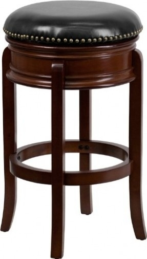 Cherry Wood Swivel Bar Stool Foter inside Cherry Wood Bar Stools
