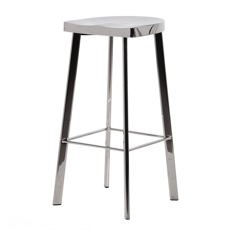 Chic Chrome Bar Stool throughout Stylish  chrome bar stool with regard to Your property