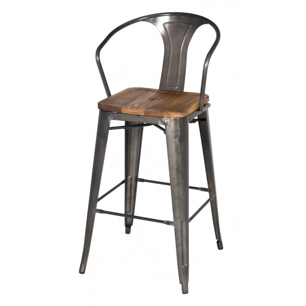 Chic Dining Room Rustic Bar Stools Metal Wood Bar Stool With Seat with The Most Brilliant  wood and metal bar stools for Invigorate