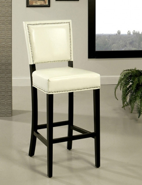 Chic White Leather Bar Stool White Leather Bar Stools Foter for White Leather Bar Stools
