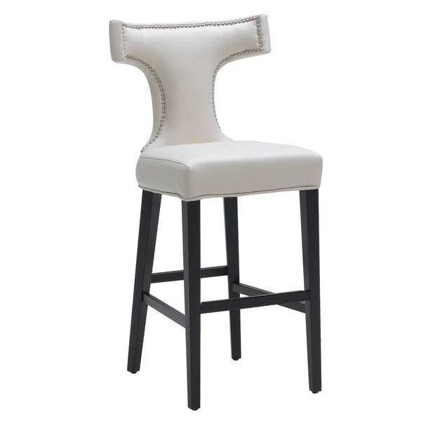 Chic White Leather Bar Stool White Leather Bar Stools Foter throughout The Most Incredible along with Interesting white leather bar stool for House