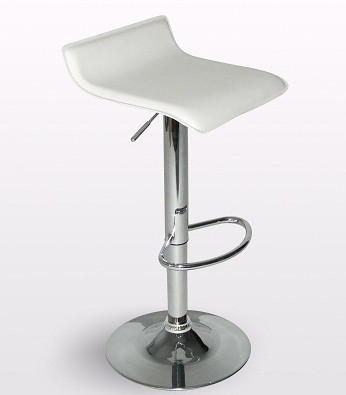Chic White Leather Bar Stool White Leather Bar Stools Foter with The Stylish  bar stools white for Household
