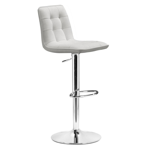 Chic White Leather Bar Stool White Leather Bar Stools Foter within White Leather Bar Stool