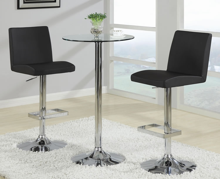 Chicago Discounted Modern Bar Table And Stools within Bar Stools And Tables