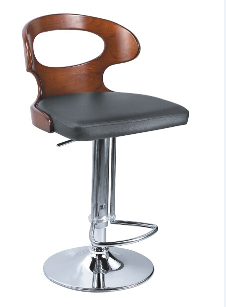 China Modern New Design Wooden And Leather Leisure Bar Chair Bar inside Wood And Leather Bar Stools