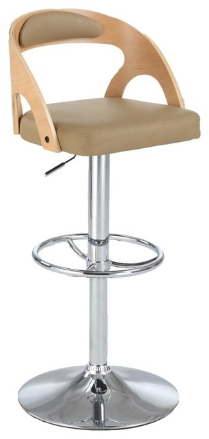 Chintaly Round Open Back Pneumatic Stool Beige Bar Stools And for chintaly bar stools with regard to Inspire