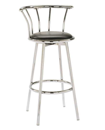 Chrome Bar Stool Double Ring Home Bar Design regarding Chrome Bar Stool