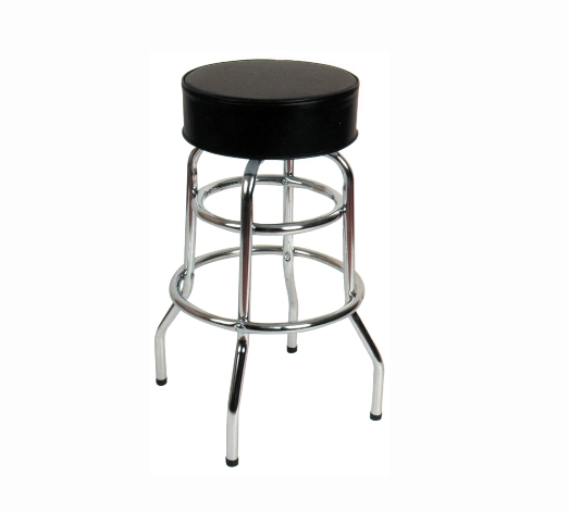 Chrome Double Ring Bar Stoolschrome Bar Stools With Swivelable within Chrome Bar Stools