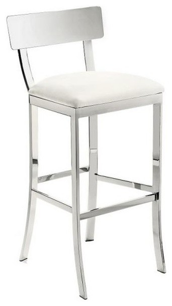 Chrome Finish Stool Contemporary Bar Stools And Counter Stools throughout Bar Stools White