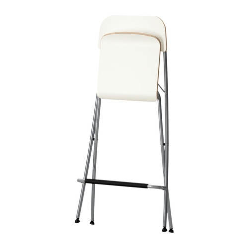 Chrome Folding Bar Stool Breakfast Kitchen High 90cm Chair Beech intended for Ikea Folding Bar Stool