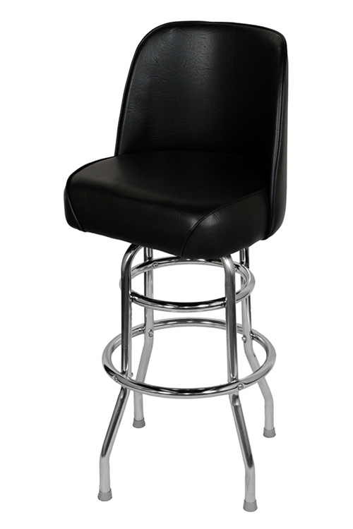 Chrome Swivel Bar Stool With A Singledouble Ring throughout Black Swivel Bar Stools