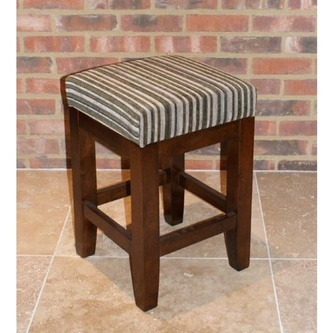 Chunky Low Bar Stools Dark Walnut With Square Padded Seat with low bar stools with regard to  Home
